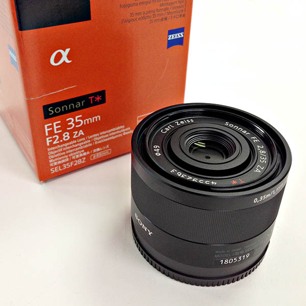 Sony 35mm f/2.8 FE Sonnar Zeiss lens